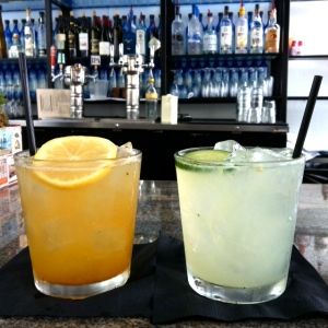 Yummy drinks at The Deck bar.