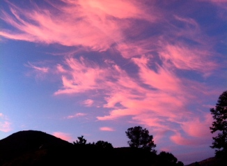 Unreal sky before the show. Amphitheaters are the best!